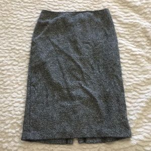 Grey skirt with slit in back